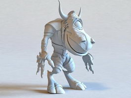 One-eyed Minotaur Monster 3d model preview