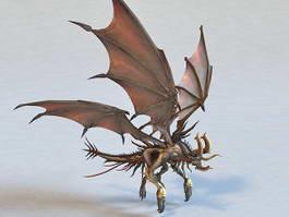 Mutant Dragon Monster 3d model preview