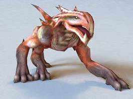 Monster Felhound Rigged and Animated 3d model preview
