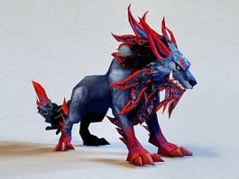 Fantasy Wolf 3d model preview
