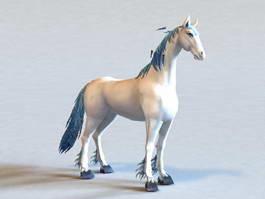 Fantasy White Horse 3d model preview