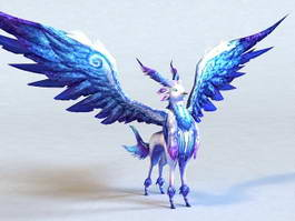 Winged Antelope 3d model preview