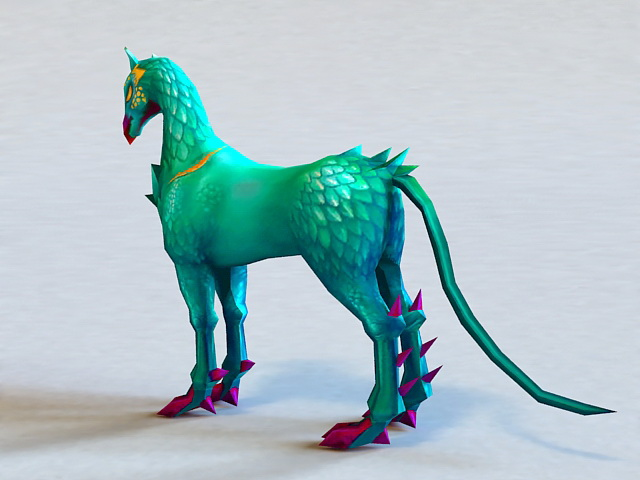 Mythical Horse Creature 3d rendering