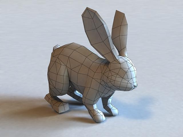 White Rabbit 3d rendering