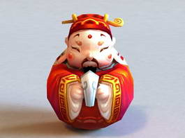 Chinese Fortune God 3d preview