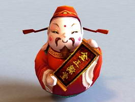 Chinese Caishen 3d preview