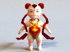 Ancient Chinese Toddler Boy 3d model preview