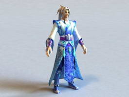 Ancient Chinese Kung Fu Warrior 3d model preview