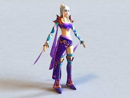 Dynasty Warriors Female Character 3d preview