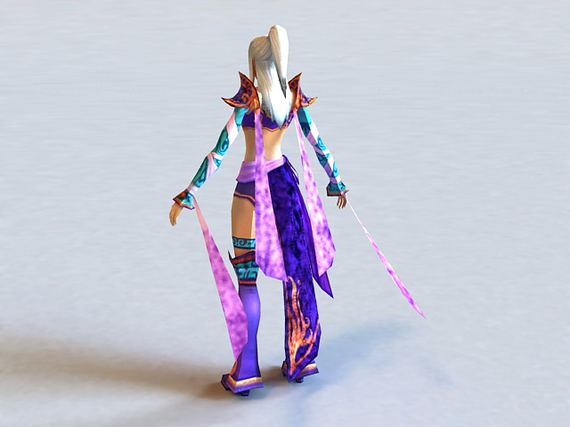 Dynasty Warriors Female Character 3d rendering