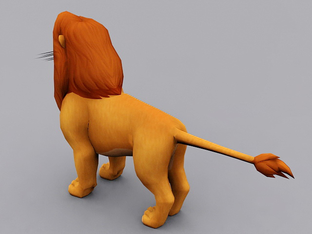 Simba The Lion King Character 3d rendering