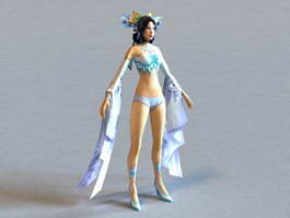 Sexy Anime Girl Character 3d model preview