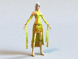 Tang Dynasty Clothing Woman 3d preview