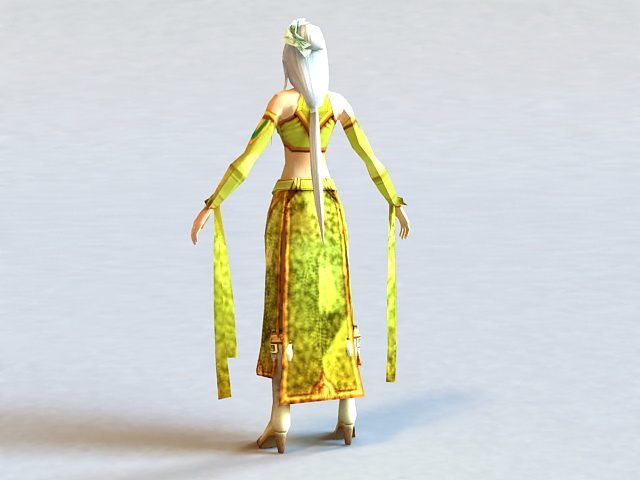 Tang Dynasty Clothing Woman 3d rendering