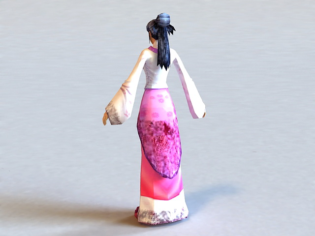 Han Dynasty Woman 3d rendering