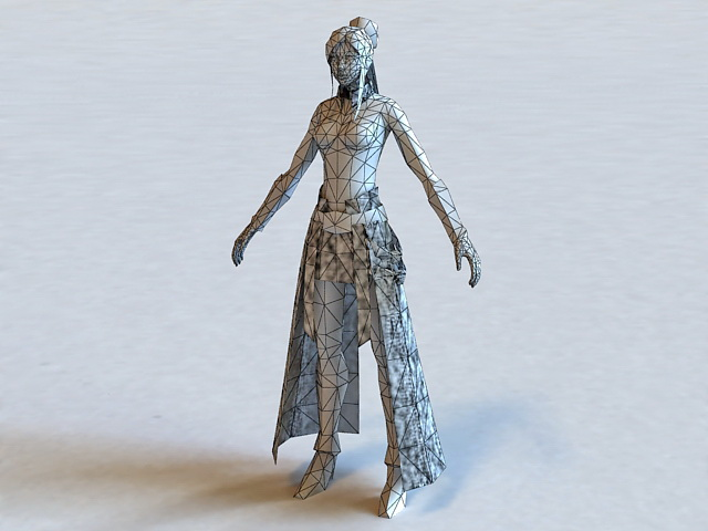 Ancient Chinese Woman 3d rendering