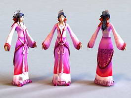 Ming Dynasty Woman 3d preview