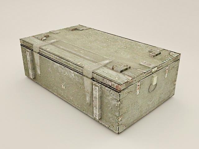 Military Foot locker 3d rendering