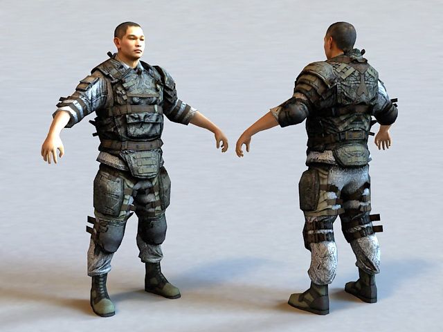 Korean Special Forces 3d Model 3ds Max Files Free Download