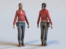Female Police Officer 3d preview