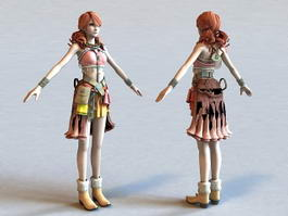 Vanille Final Fantasy Character 3d preview