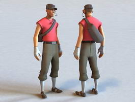 TF2 Scout Rigged 3d model preview