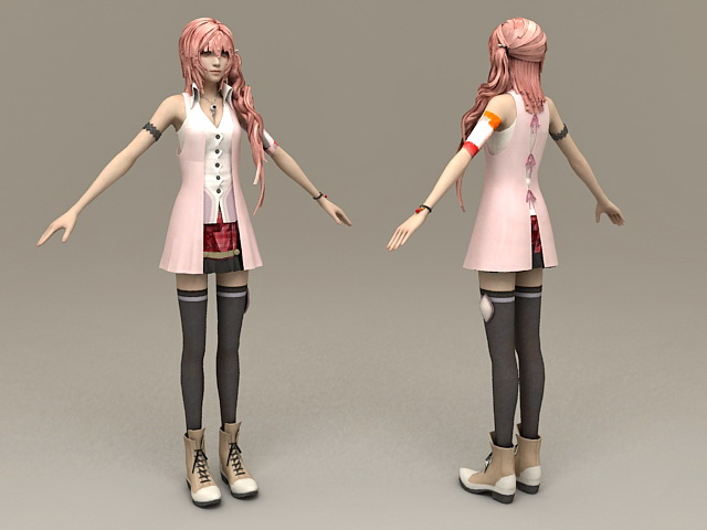 Realistic Girl Character 3d rendering