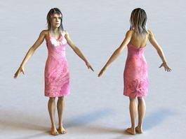 Hawaiian Woman 3d model preview