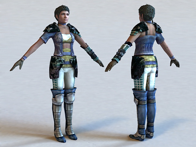 Black Woman Warrior 3d rendering