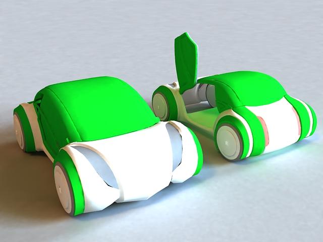 Green Concept Car 3d rendering
