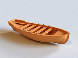 Wooden Boat 3d preview