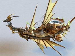 Steampunk Dragon Airship 3d preview