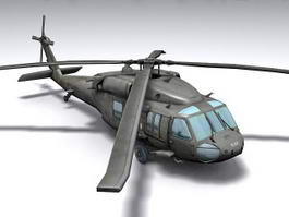 Black Hawk Helicopter 3d model preview