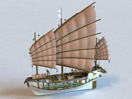 Chinese Junk 3d model preview