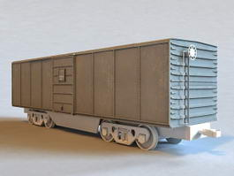 Train Boxcar 3d preview