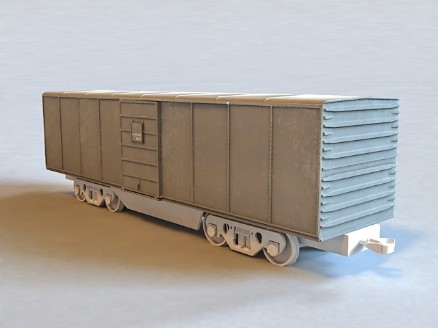 Train Boxcar 3d rendering