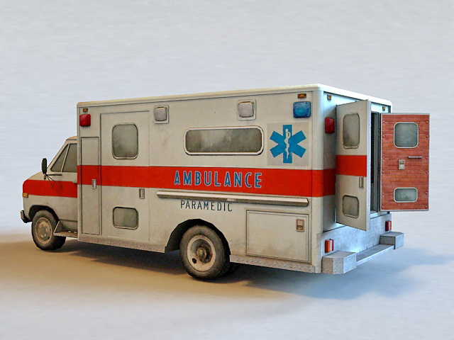 Hospital Ambulance 3d rendering