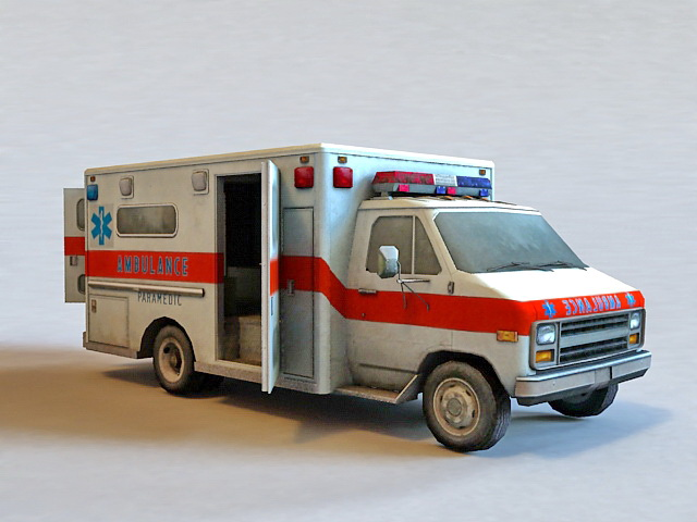 Hospital Ambulance 3d Model Autodesk Fbx Object Files Free
