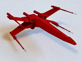X-wing Fighter 3d preview
