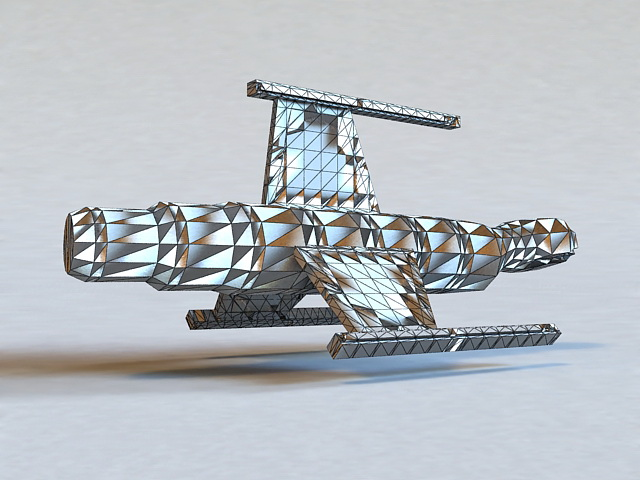 Military Spy Satellite 3d rendering