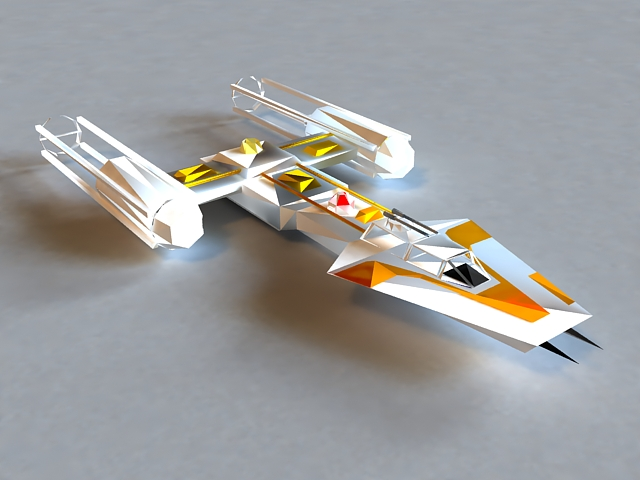 Sci-Fi Shuttle Craft 3d rendering