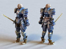 Ancient Male Warrior 3d preview