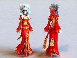 Traditional Chinese Bride 3d preview
