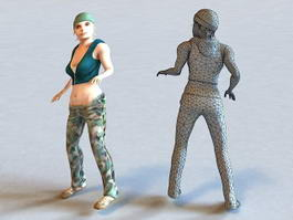 Need for Speed Underground Girl 3d model preview