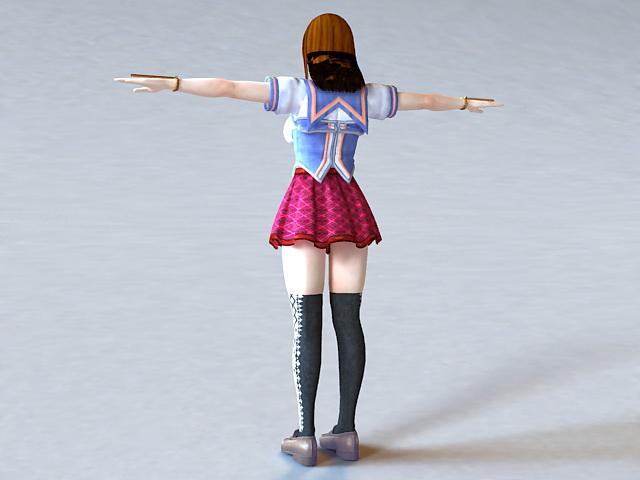 Anime Girl Teacher 3d rendering