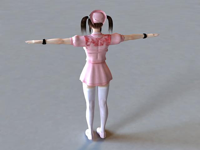 Female Nurse 3d model 3ds Max files free download