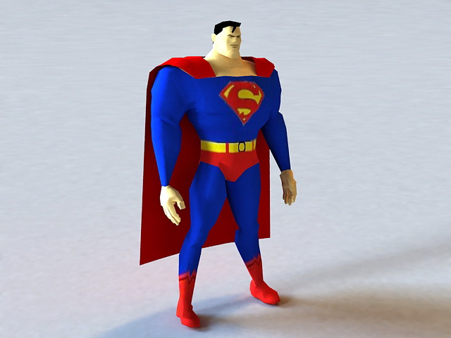 Superman 3d Model 3ds Max Files Free Download Modeling