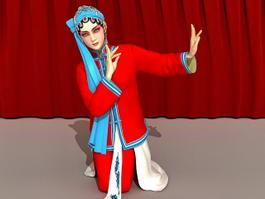 Chinese Peking Opera Woman 3d model preview