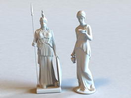Athena Statue 3d preview