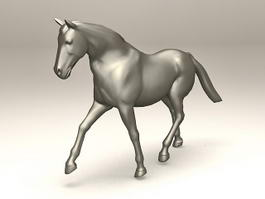Outdoor Horse Statue 3d model preview